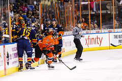 "Kansas City Mavericks vs. Colorado Eagles, December 16, 2017, Silverstein Eye Centers Arena, Independence, Missouri.  Photo: © John Howe / Howe Creative Photography, all rights reserved 2017. • <a style=""font-size:0.8em;"" href=""http://www.flickr.com/photos/134016632@N02/39106654402/"" target=""_blank"">View on Flickr</a>"