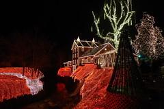 Clifton Mill (ramseybuckeye) Tags: clifton mill ohio greene county christmas lights night christmaslights
