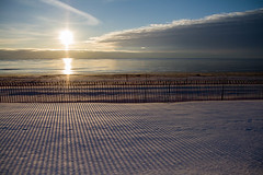 Lines on the Snow (Lester Public Library) Tags: lakemichigan greatlakes neshotahbeach neshotah neshotahpark snow sand water sky lake tworiverswisconsin wisconsin morning lesterpubliclibrarytworiverswisconsin readdiscoverconnectenrich