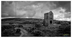 Old Vs New (urfnick) Tags: mast cornwall moorland clouds storm moody mine