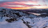 Sunrise over the Trossachs (Kyoshi Masamune) Tags: uk scotland trossachsnationalpark trossachs benaan sunrise summit mountain snow snowylandscape snowscape loch lochachray lochlomondthetrossachsnationalpark kyoshimasamune ultrawideangle wideangle panorama hdr highdynamicrange