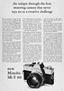 Minolta SR-T 101 camera advertisement. (Jerry Vacl) Tags: advertisement bw magazine magazinead 1968'photographydirectorybuyingguide' camera slr minolta minoltasrt101 nikond7200 micronikkor40mmf28g