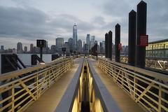 A View Of Manhattan (JPShen) Tags: cityscape clouds lights city skyline landscape sunset newyork manhattan pier
