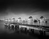 Thames Barrier (mhx) Tags: 45f2 architecture blacksky bw chamonix clouds cloudtrails largeformat london longexposure monochrome pier schneider supersymmar thames thamesbarrier uk water