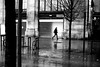 Along the station (pascalcolin1) Tags: paris13 austerlitz femme woman pluie rain reflets reflection vélo bike gare station photoderue streetview urbanarte noiretblanc blackandwhite photopascalcolin 50mm canon50mm canon