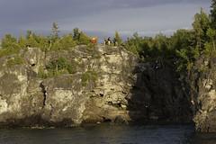 Rescue Practise (blueheronco) Tags: highanglerescuepractise northernbrucepeninsulafiredepartment grotto georgianbay ontario canada niagaraescarpment brucepeninsula brucepeninsulanationalpark