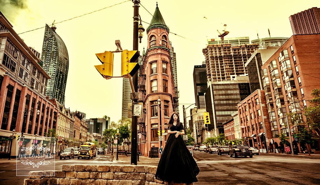 海外婚紗,婚禮,攝影,自助旅拍,國外,寫真,加拿大,多倫多,古德漢大廈,Gooderham Building