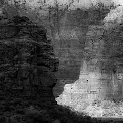 In Canyons 178 (noahbw) Tags: d5000 nikon utah zionnationalpark abstract autumn blackwhite blackandwhite bw canyon cliffs desert erosion landscape monochrome natural noahbw rock shadow square stone incanyons