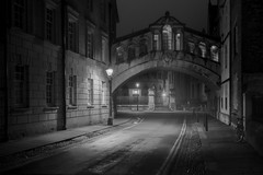 Bridge of Sighs (littlenorty) Tags: bicycle bridgeofsighs buildings college england europe landscape night objects oxford oxfordshire strretlights type unitedkingdom weatherandseasons