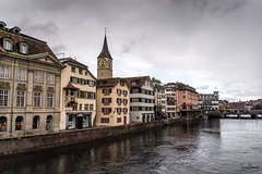 Zürich (Tony_Brasier) Tags: river buildings bridge people peacefull zurich city switzerland nikond7200 sigma sky shops snow cold church christmastrees 1750mm