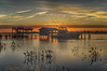 Sunset Pawleys Island (RoseySpoonbill) Tags: pawleysisland water sunset clouds wate rboats pier