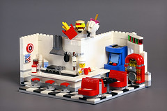 All American Diner - B Shot (Frost Bricks) Tags: lego all american diner moc food restaurant cafe ice creamery