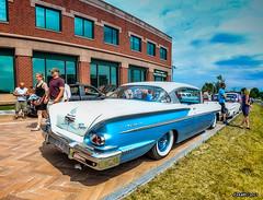 1958 Chevrolet Bel Air (kenmojr) Tags: 2017 antique atlanticnationals auto car classic moncton newbrunswick show vehicle vintage centennialpark downtown kenmo kenmorris carshow 1958 chevrolet chevy belair