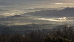 Misty lowlands. (ChusPS) Tags: montseny unesco barcelona catalunya catalonia catalunyaexperience nature color sunrise mist mountain nikon nikkor manfrotto winter hivern invierno anticyclon mediterranean