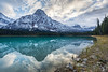 Chephren Blue (Kirk Lougheed) Tags: alberta banff banffnationalpark canada canadian icefieldsparkway mountchephren waterfowllakes autumn cloud fall forest lake landscape mountain nationalpark outdoor park reflection shore shoreline sky snow water