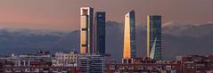 Ocaso en las torres (Bipode) Tags: torres madrid cityscape skyline ocaso invierno 300f4 em1markii