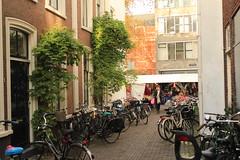 Utrecht, Netherlands (katelyn krulek) Tags: travel traveling travelling travels europetravel study abroad flickr exploring explore exploremore utrecht netherlands netherlandstravel utrechtnetherlands city urbanexploring urban alley bikes bicycles greenery door