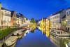 Blue Hour [BE] (ta92310) Tags: travel europe belgique belgium gand gent ghent graslei quai night flandre flemish bluehour longexposure old city centre