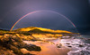 Epic Malibu Rainbow Seascape Sunset Leo Carillo State BEach: McGucken Fine Art Landscape & Nature Photography: Light Beams & Dr. Elliot McGucken Epic Fine Art! (45SURF Hero's Odyssey Mythology Landscapes & Godde) Tags: mcgucken fine art landscape nature photography light beams dr elliot epic