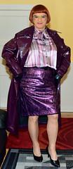 Birgit025722 (Birgit Bach) Tags: skirt rock bowblouse schleifenbluse coat mantel vinyl lack