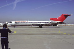 al3729 (George Hamlin) Tags: georgai atlanta hartsfield jackson international airport atl northwest airlines boeing 727251 aircraft jet airplane airliner narrowbody n282us ramp person photographer sky photo decor george hamlin photography