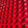 Mirror, Mirror,  on the Wall... ([-ChristiaN-]) Tags: mirror left car sidemirror red rot spiegel autospiegel rückspiegel seitenspiegel aussenspiegel auto seat wand wiederholung repetition square quadratisch 11 1by1 autostadt wolfsburg farbe kräftig