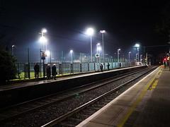 Sandymount station (turgidson) Tags: sandymount train station rail railway line irish irishrail public transport publictransport dublin ireland dart area rapid transit dublinarearapidtransit iarnrod eireann iarnrodeireann p1200890 panasonic lumix dmc g7 panasoniclumixdmcg7 panasonicg7 micro four thirds microfourthirds m43 g lumixg mirrorless leica dg summilux leicadgsummilux 15mm f17 asph prime lens primelens 15mmf17 panasonicleica15mmf17asph hx015 silkypix developer studio pro 7 silkypixdeveloperstudiopro7 raw night platform tracks