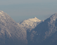 Mt. Bishop? Peak behind and between Seymour and Grouse (Rod Raglin) Tags: north shore mountains vancouver britishcolumbia pacificranges
