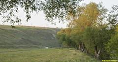 Спустились к речке. А тут палатки через каждые 100 метров.