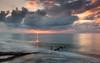 Sunset on Darss West Beach (He Ro.) Tags: 2016 herbst autumn fischlanddarszingst balticsea ocean colourful sunset water beach deadtree darsswestbeach weststrand npvorpommerscheboddenlandschaft mecklenburgvorpommern deutschland germany sonnenuntergang strand longexposure