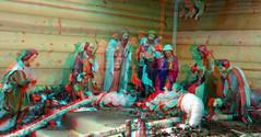 kerststal Paradijskerk Rotterdam 3D (wim hoppenbrouwers) Tags: kerststal paradijskerk rotterdam 3d anaglyphstereoredcyanoldcatholic parishofsspeterandpaul binnenweg nativityscene crib