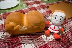 Shokupan & Shokupanman (Yutaka Seki) Tags: shokupan japanesebread dough baked baking food soft fluffy shokupanman anpanman cartoon character japanese japan