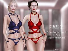 Rivaldi 'Danielle' (Salamona) Tags: rivaldi second life sl secondlife kinky event top panties bracelet choker