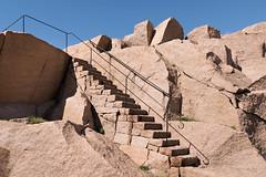 Granite stairs in Stångehuvud reserve (aka CJ) Tags: granite stairs stångehuvud steps railing blue sky summer glittering cliffs