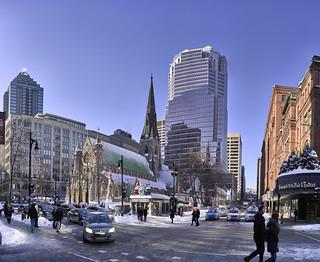 Montréal old town in December