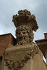 Dionysian Entrance Post (Victoria Lea B) Tags: sculpture bacchus dionysius botanicalgarden ortobotanico