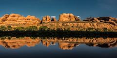 Colorado (Bernd Thaller) Tags: moab utah usa us colorado mirror sky rocks redrockregion symmetry evening sunshine river riverside water mountain rock canyon cliff canyonlands