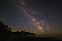 Milky Way above Ruby Beach (Tim&Elisa) Tags: usa washington olympicnationalpark nationalpark olympic nature canon milkyway rubybeach seascape nightscape landscape water pacificocean pacific
