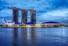 Blue Hour MBS (Shane Hebzynski) Tags: bluehour marinabaysands singapore water reflection buildings casino hotel sky sony a6000 hdr