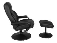 N1701BK_2 (RegencyOfficeFurniture) Tags: regency regencyofficefurniture regencyseating seating chair recliner reclining lounge swivel armchair vinyl ottoman footrest rotating lightweight impresa n1701 black blackchair