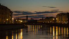 I lungarni Pisani (Francesco Pirritano) Tags: color panorama history old bridge view city water night tower reflection reflecting river arno building sunset clouds lights toscana tuscany italia italy europe landscapes outdoor blue evening