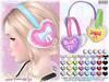 [ bubble ] Heart Earmuffs (::: insanya ::: & [ bubble ]) Tags: secondlife bubble originalmesh accessories earmuffs mesh hud heart exclusive okinawawinterfestival