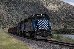 MRL 355 (gameover340) Tags: emds mrl montanaraillink railroad train freight manifest sd452 sd402