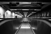 Down (maekke) Tags: tunnelbana tunnel stockholm sweden perspective pointofview pov bw noiretblanc fujifilm x100t 35mm streetphotography lines 2017 underground