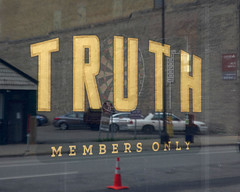 Truth: Members Only (schwerdf) Tags: downtownminneapolis irony minneapolis minnesota