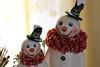 IMG_1390 copy (holidaysparkle) Tags: holidaysparkle pfattmarketplace snowman snowmen vintageinspired papermache crepepaper