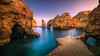 The Secret Harbor (Adam West Photography) Tags: adamwest algarve arches blue cliffs composition cove dock dusk golden harbor harbour lagoon lagos longexposure pirate portugal praia private rocks sea stacks stone sunrise sunset warmpontadapiedade secluded secret
