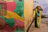 Phalodi Rajasthan India (Tito Dalmau) Tags: woman wall colours phalodi rajasthan india