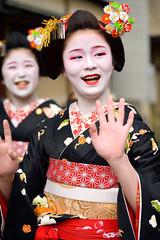 character (byzanceblue) Tags: geisha maiko geiko kyoto gion miyagawacho japanese kimono d850 nikkor woman girl beautiful cute pretty black red female