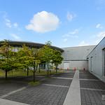 Exterior wall of Toyosaka City Library (豊栄市立図書館)